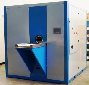 Washing machine for cleaning of turned parts and precision components