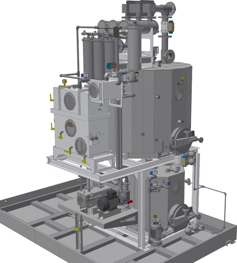 Distillatore per impianti lavametalli